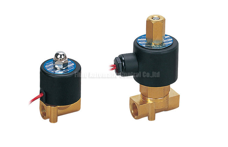 4mm Orifice Mini Brass Direct Drive 2 Way Pneumatic Solenoid Valve