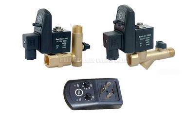 こし器フィルターおよび排水弁が付いている 16bar 5mm の黄銅のタイマーの自動水切り器